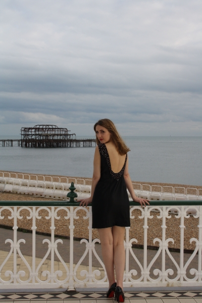 13 Kayleigh Black Beaded Cocktails Dress Natalya James