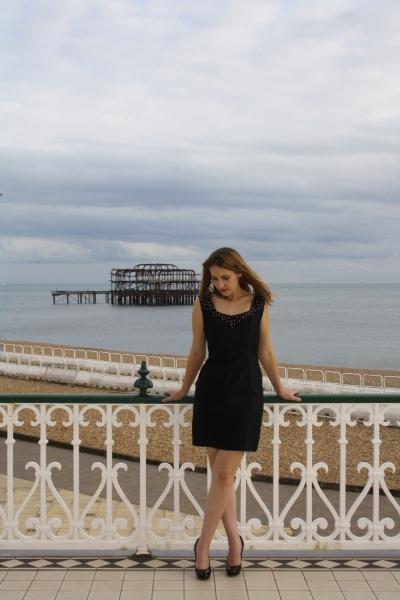 14 Kayleigh Black Beaded Cocktail Dress Natalya James