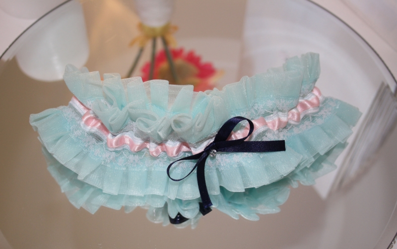 Daisy Blue and Pink Garter 2 Natalya James