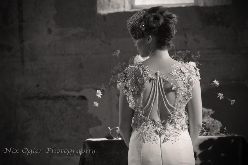 92  Natalya James Bridal lace and pearl back wedding dress