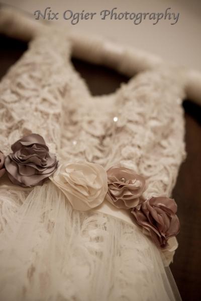 Elaine dress cappuccino and rose belt Natalya James