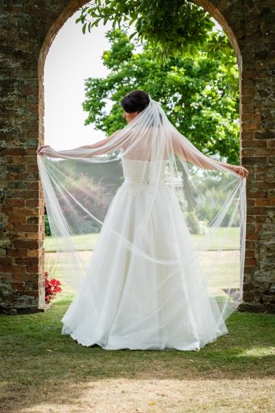 grace Plain veil with lace detail Natalya James