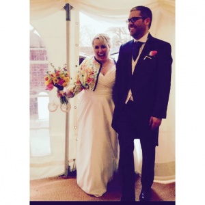 Bespoke wedding jacket by Natalya James Bridal